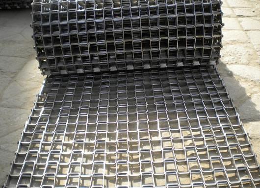 Steel Flat Wire Belt Woven Metal Conveyor Strips For Parts